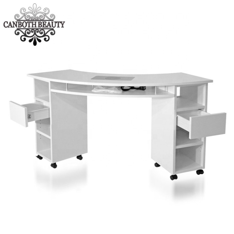 New Design Salon Manicure Table Nail Tables For Sale Foshan Canboth Beauty Equipment Factory