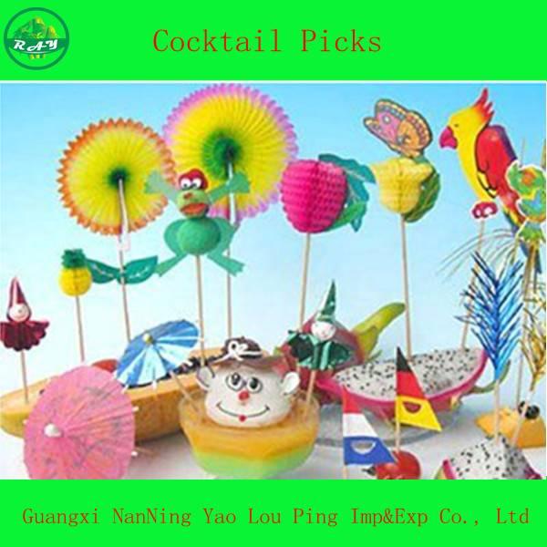 Parasol Party Fruit Decorative Picks/Umbrella Straw/Party Pick
