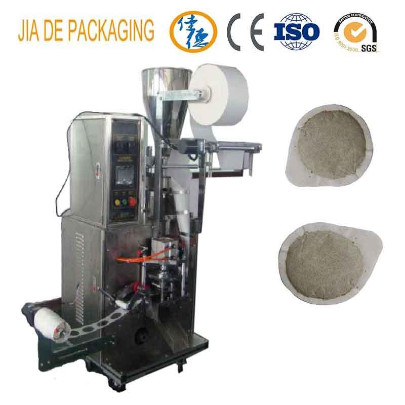Round shaped bag tea packing machine/coffee pod packing machine