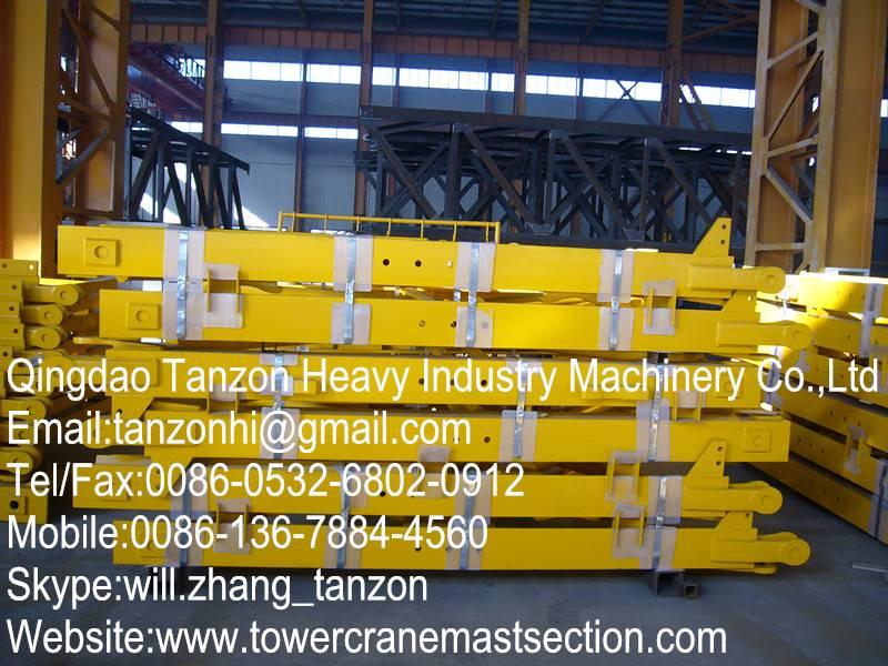 Q345B Steel Interchangeable Crane Mast , Replacement Crane Spare Part