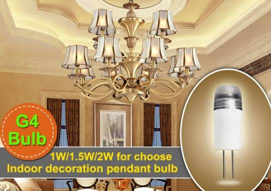 2W High brightness pc housing led G4 light bulbs