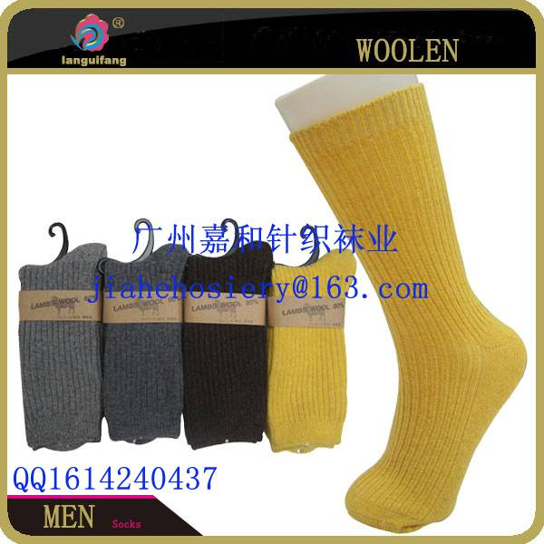 Wholesale Custom Business Black wool Mens Socks High Quality Sock thick wool Sock