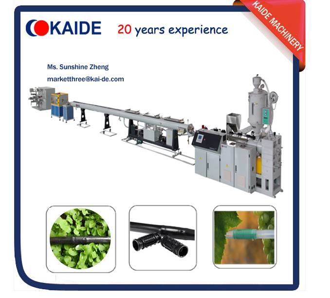 PE80m/min drip irrigation pipe production machine Round dripper KAIDE