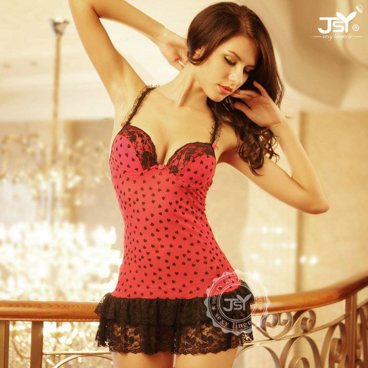 Free Size young girls red mature lingerie sexy hot 2015 with G-String