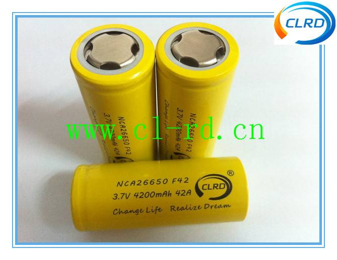 NCA26650 4200mah 42amp continuous discharge rate 26650 li-ion batteries