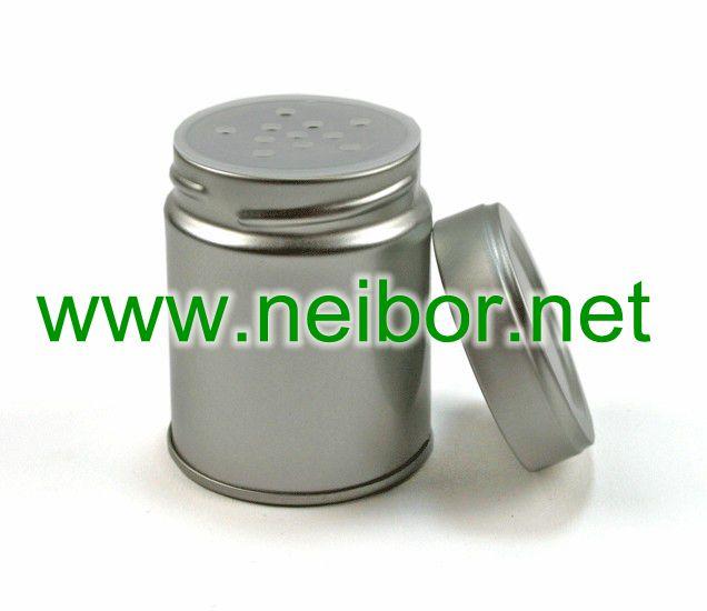 spice sprinkler, spice jar, pepper shaker, salt can, flavor tin box