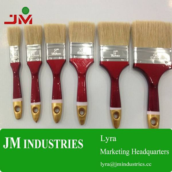 1'' 2'' 3'' 4'' paint brush with wooden handle