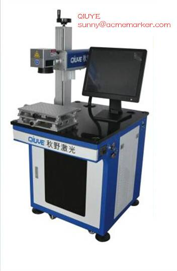 Intergrated fiber laser marking machine 20W CE certifiedserving 100000hrs cheap price QY from china
