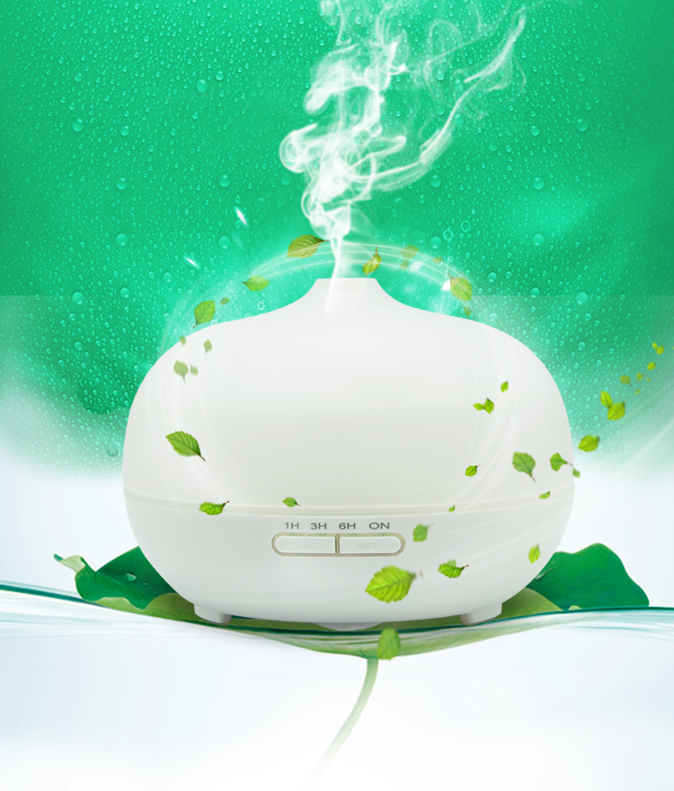 Ultrasonic Aroma Diffuser and Humidifier 300ml Bottle Glass With Multi-color LED Lights Room