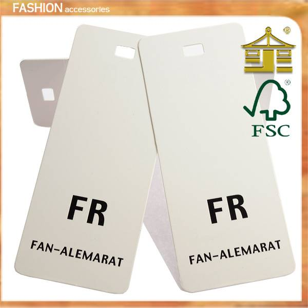 High quality paper hang tag for clothing in Guangzhou