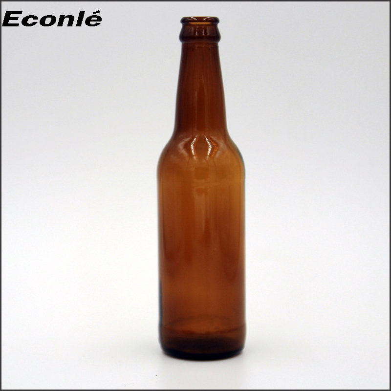 Factory price 330ml beer glass bottle with crown cap