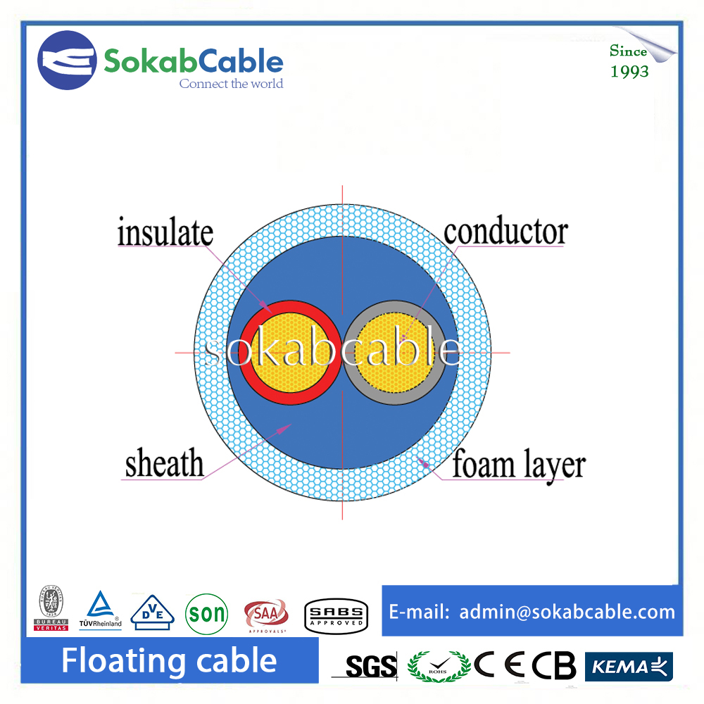 Double Armored Water Resistance Underwater Electrical Cable