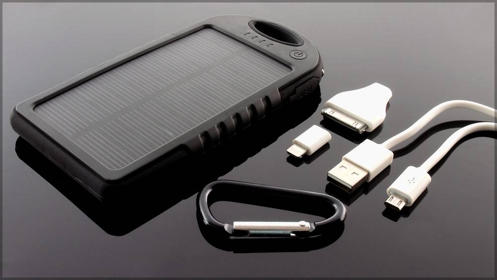 Waterproof Solar Charger 5000mAh Mobile Solar Charger WT-S011