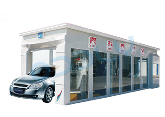 automatic tunnel car wash machine with 12 brushes