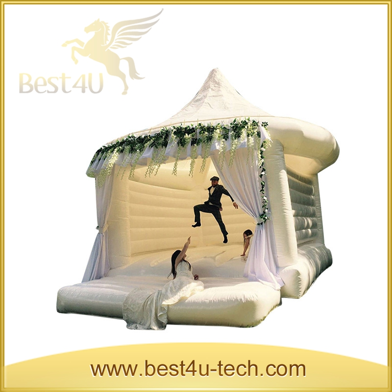 Outdoor Princesses White Castle Inflatable Models For Party