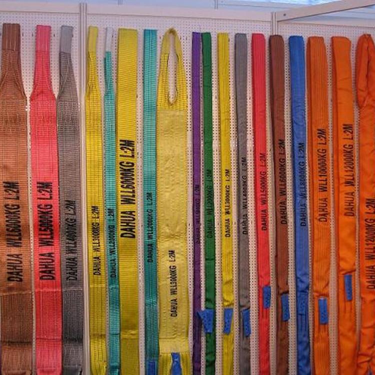custom manufacturer woven 1-10ton 0.5t 4t polyester crane professional eye-eye flat webbing belt sli