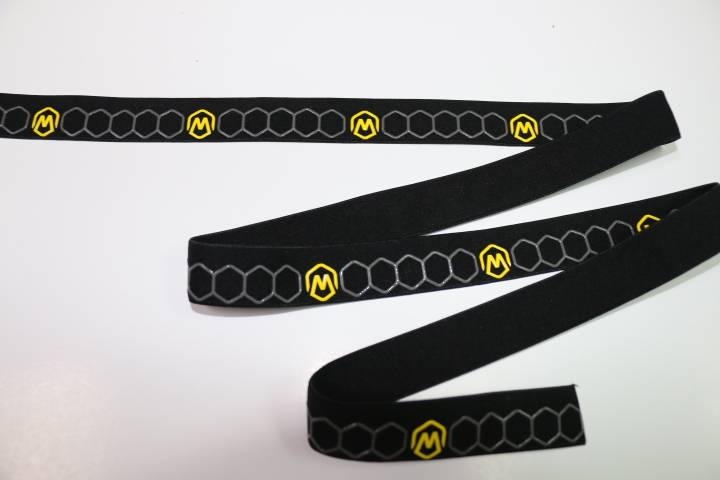 Customized woven webbing elastic tape with silicone for sale