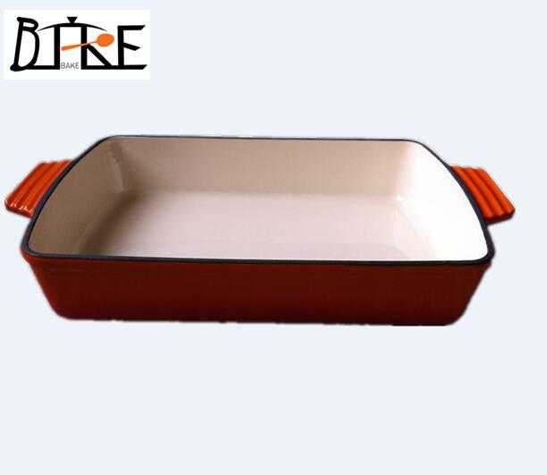 cast iron enameled dish pans