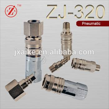Steel pneumatic quick coupling