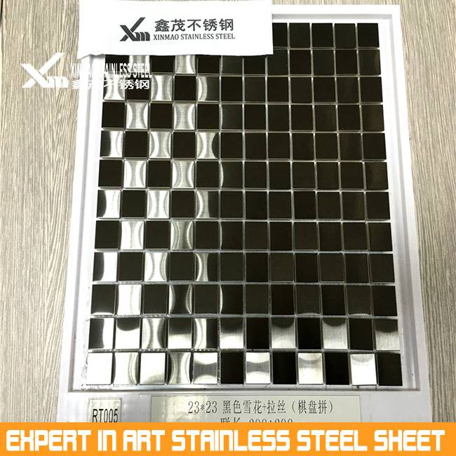 304 costomized stainless steel shaped of mosaic tiles