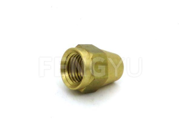 Brass short rod nut F120X (free lead brass)