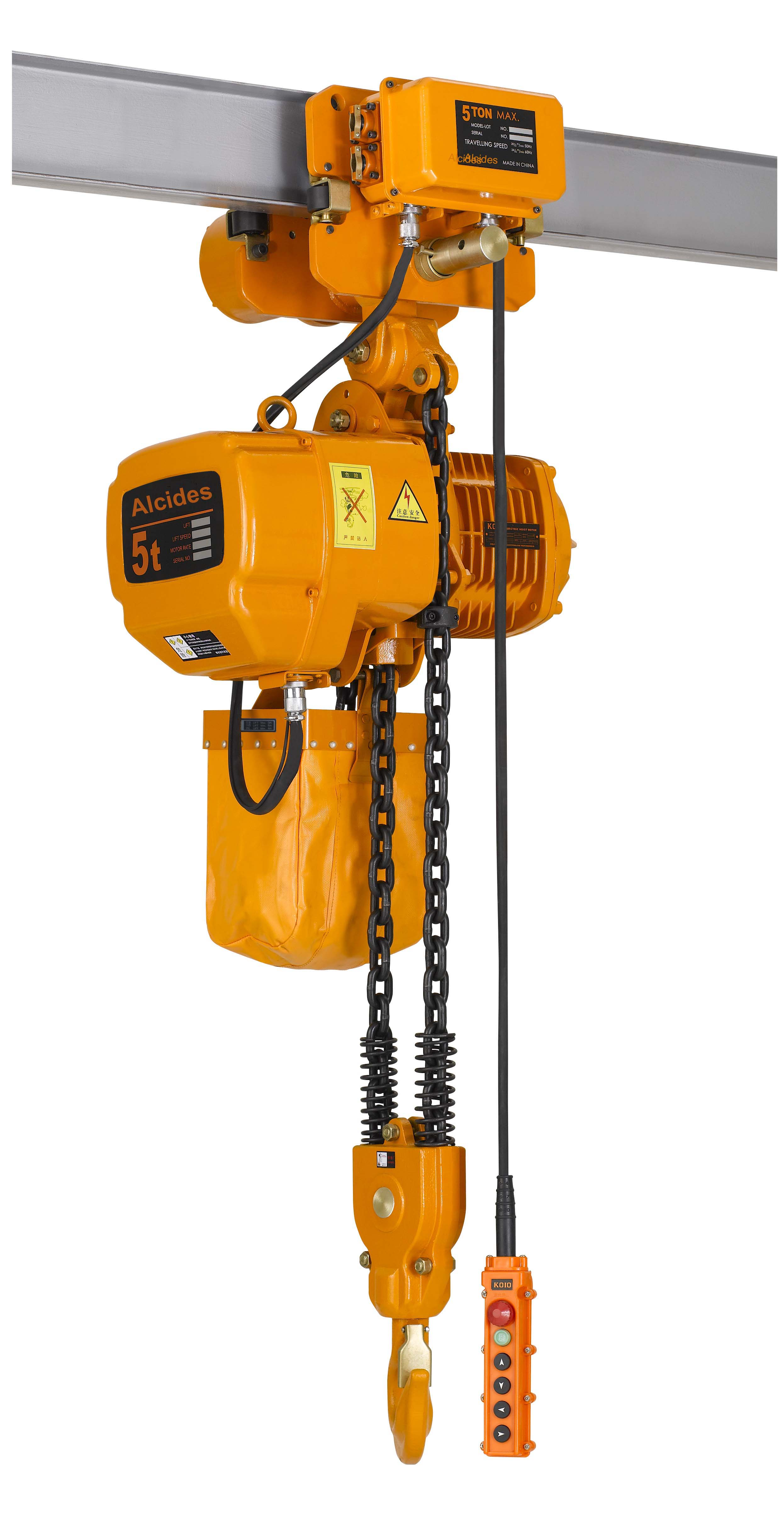 0.5t 1t 2t 2.5t 3t 5t 7.5t 10t 15t 20t 25t Kito Type Electric Chain Hoist with Electric Trolley 1P/3