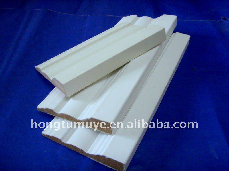 Decorative White Primed Wood Finger Joint Casing Moulding