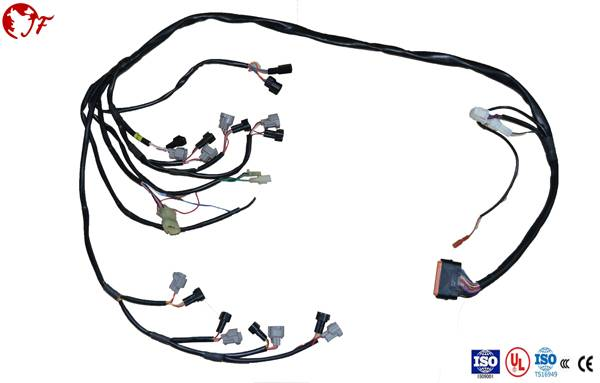 customized wiring harness with connector for vehicle honda
