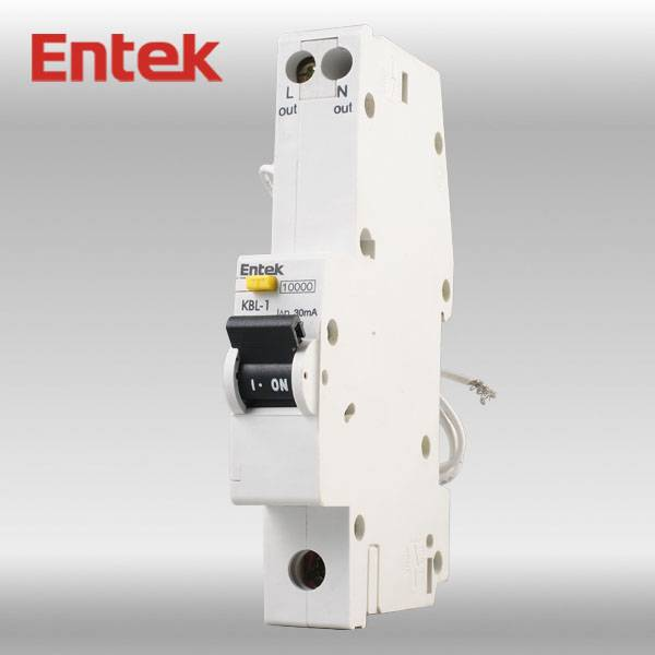 MCB/RCD Combination with 6kA breaking capacity (RCBO)