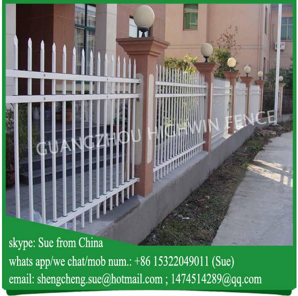 Short garden fences galvanized steel tube wrought iron fence for Danish