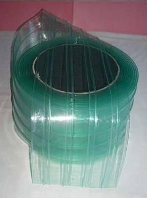 Anti-static ribbed pvc strip clear curtain