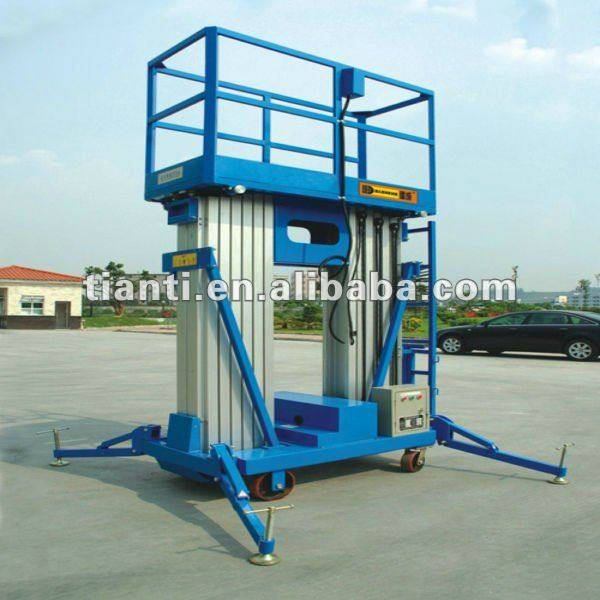 Manufacture portable double mast electric aluminum hydraulic lift table for sale