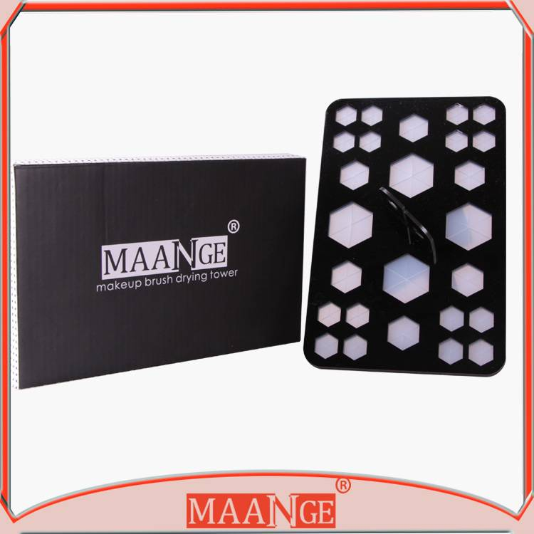 MAANGE New arrival acrylic folding makeup burush drying shelf
