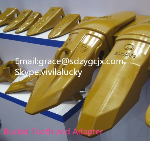 PC200 bucket teeth, adapter, side cutter. PC200RC teeth with part No.205-70-19570