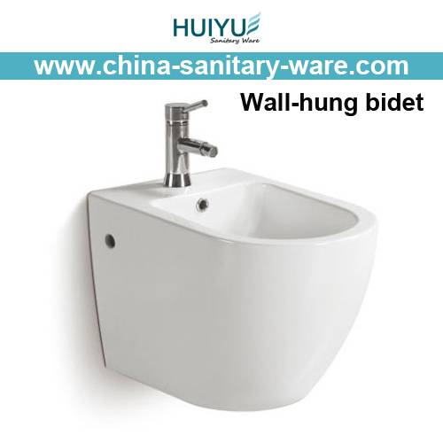 fashion high-class ceramic bathroom wall hung bidet
