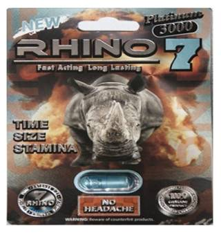 RHINO 7 PLATINUM 3000 MG Male Enhancement Sex Pills /Medicine