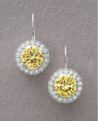 sterling silver lenmon citrine earrings,925 silver jewelry,gemstone earrings