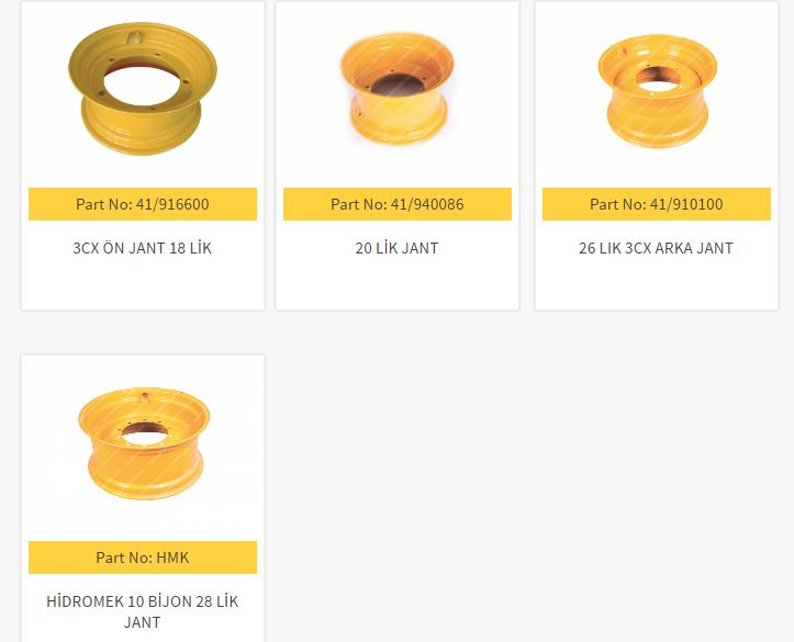 JCB Wheels Spare Parts