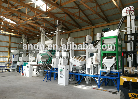 Anon 30-40T/D complete rice mill plant