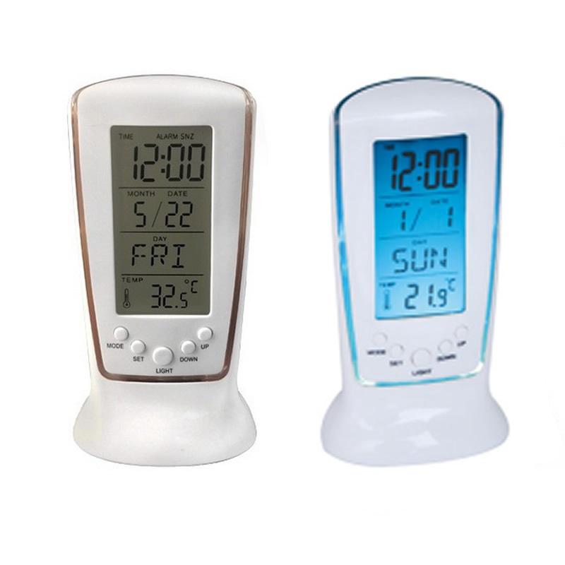 Frozen LED Digital Desk Alarm Clock Electronic Watch Calendar Thermometer