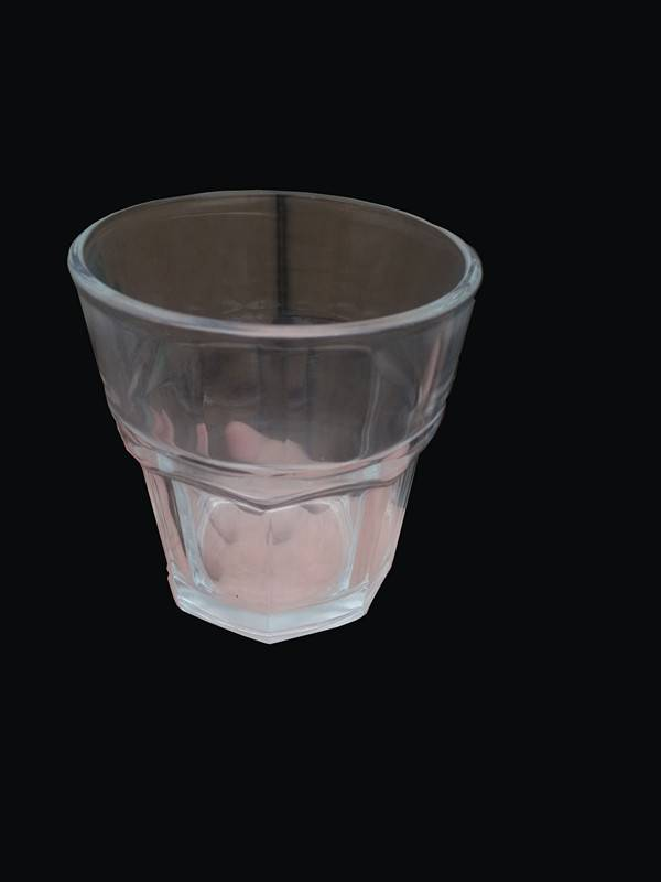 Octagon Glass cup for Promotional Hot Standard, Drinking Octagon Glass Cup for Juice Whiskey