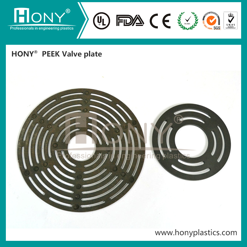 Long Life Use Wear Resistant CNG Compressor PEEK Valve Plate