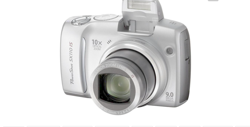 Small digital camera 2000 megapixel camera, self - timer, silver grey