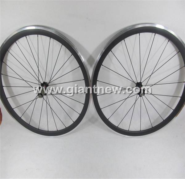 700C*24mm Carbon Wheelset With Alloy Braking Surface Clincher
