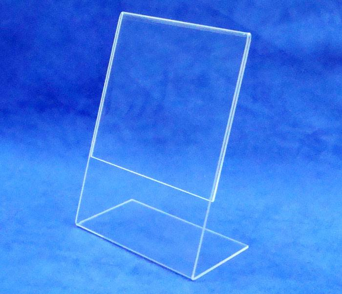"China Manufacturer 8.5"" X 11"" Clear Acrylic L Shape Sign Holder"