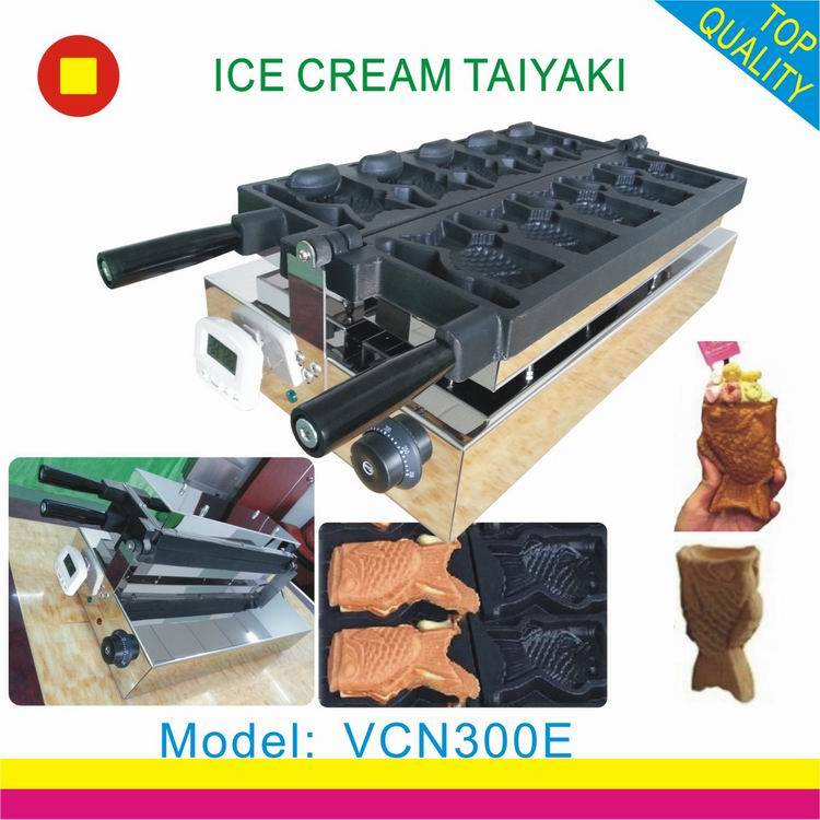 ice cream taiyaki machine/taiyaki waffle maker/fish shape taiyaki making machine
