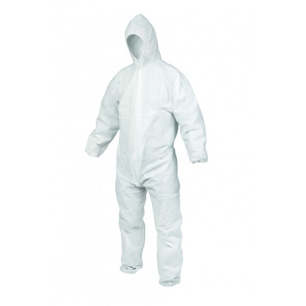 Microporous Coveralls with elastic wrists and ankles