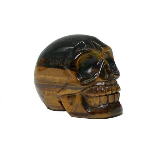 Tiger Eye Skulls