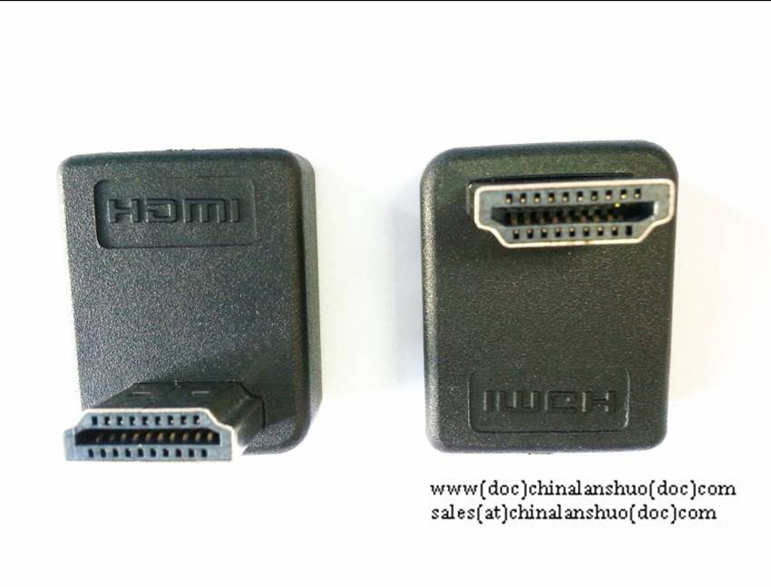 HDMI A male to HDMI Female 90 degree adapter