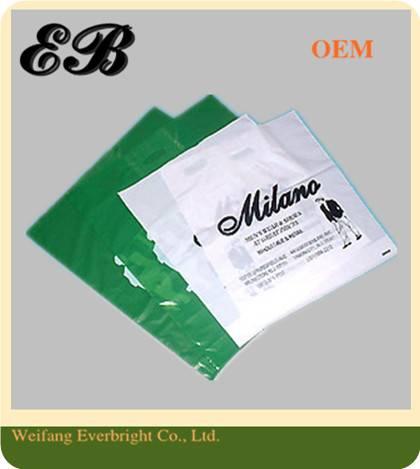 LDPE/HDPE Logo Printed Flat Shopping Bags Flat Packing Bags